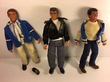 Vintage Mego Happy Days 70's TV Show Fonzie , Richie, & Potsy Figures Original