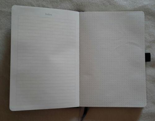 5 x Spitzen Notizbuch Hardcover PU Leder A5 dotted Tasche 3 Bänder Loop schwarz