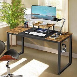 Schreibtisch Computertisch PC Tisch Bürotisch Latop-Tisch mit Monitorständer