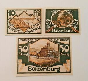 BOIZENBURG-REUTERGELD-NOTGELD-10-25-50-PFENNIG-1922-NOTGELDSCHEINE-12038
