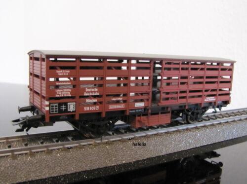 nuovo in scatola originale Märklin h0 46097-03 un carrello pollame bavarese di omologazione delle DRG