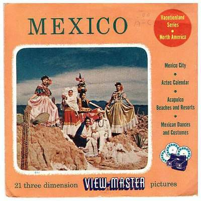 3 View-master 3d Reels????️mexico 500a/b/c Vacationland Series Northamerica/mexiko Clear-Cut-Textur