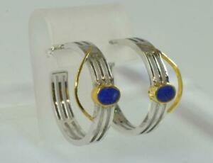1-Paar-Creolen-mit-Lapislazuli-aus-925-Sterling-Silber-Ohrringe-earrings-Lapis