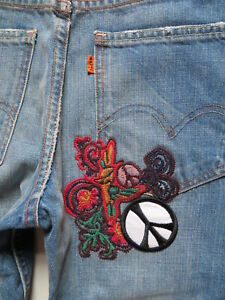 Levi-039-s-VINTAGE-CLOTHING-Jeans-Hose-W-30-L-32-NEU-PEACE-Hippie-NEIGHBORHOOD