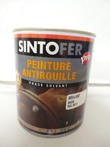 Ouvert D'Esprit Peinture Special Fer Antirouille 2,5l Glycero Marron Brun Ral 8011 Sintofer Pro
