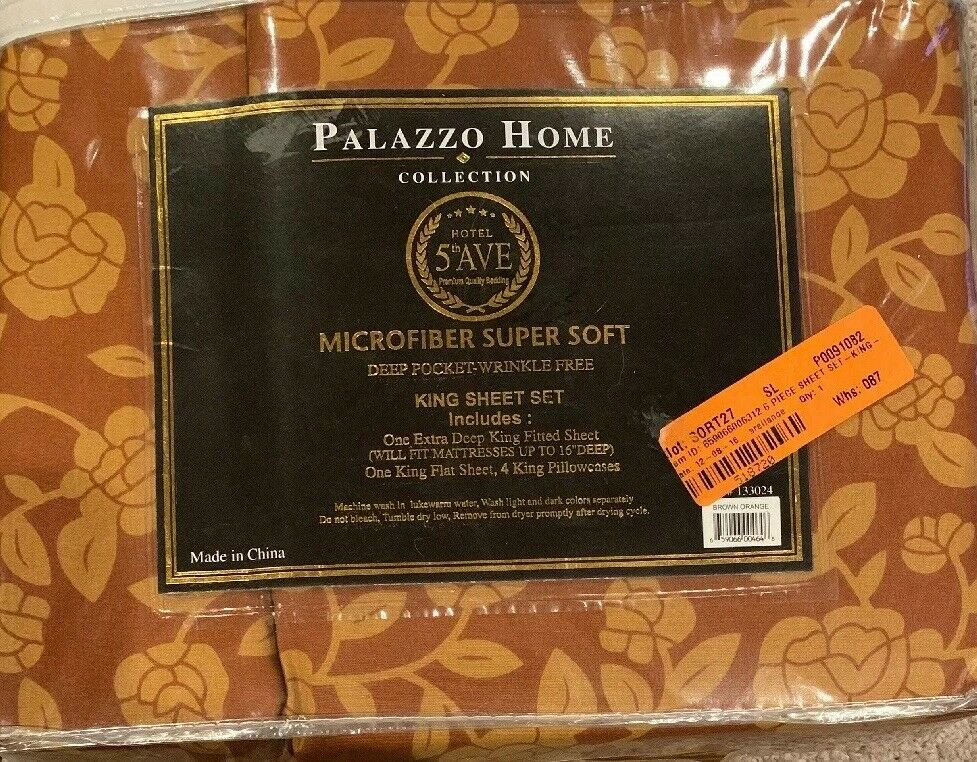 Palazzo Home, 6 Piece, King Microfiber Super Soft Set.