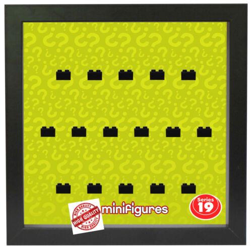 Setzkasten Vitrine für LEGO Minifiguren Motiv Serie 19