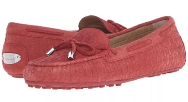 2617b574b2c Michael Kors Daisy Moccasin Loafer Flats Cinnamon Suede Women s 5.5m ...