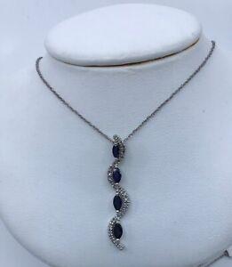 14k-White-Gold-Sapphire-amp-Diamond-Pendant-Necklace