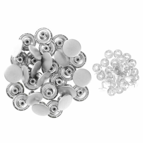30 Metal Copper Replacement Button w//Rivets Nail for Jeans Pants Overalls 17mm