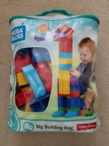 Mega-Bloks-80-Piece-Big-Building-Bag-For-Toddlers-First-Builders-Set-Baby-Boy