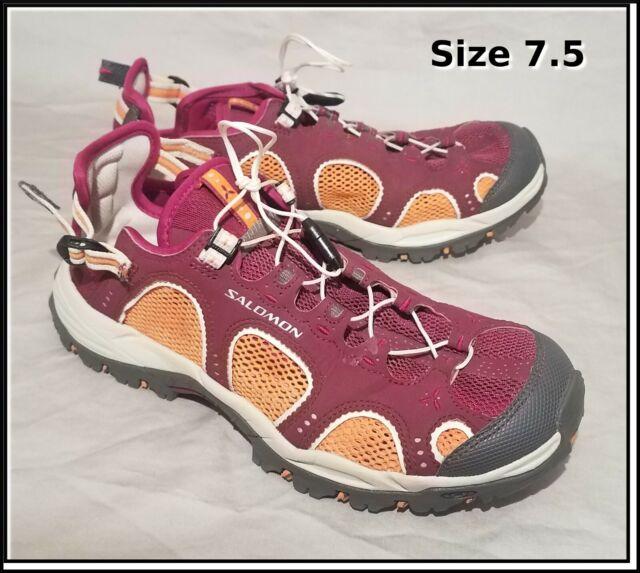 Salomon Techamphibian 3 Size 7.5 Hiking Water Shoes Burgundy Red Hike Women's