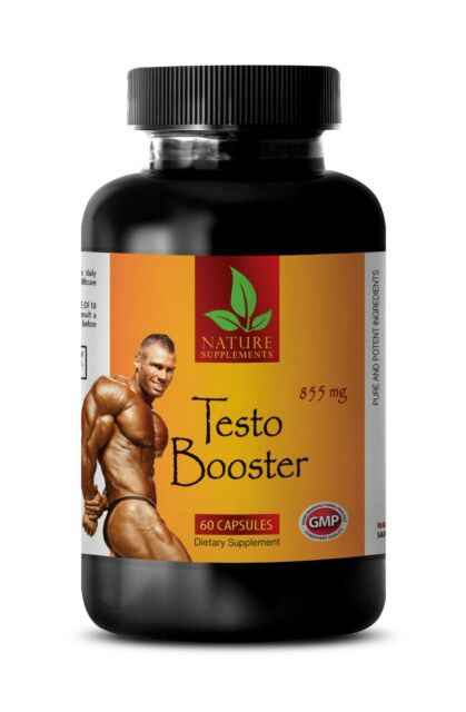 TESTO BOOSTER Muscle Mass Testosterone Booster 1 Bottle 60 Capsules for sale online