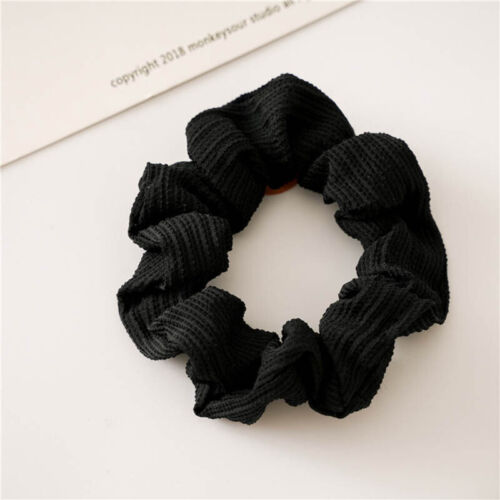 Details about  /Fashion Solid Color Toothpick Wrinkle Elastic Hair Scrunchie Ponytail Hair Ring