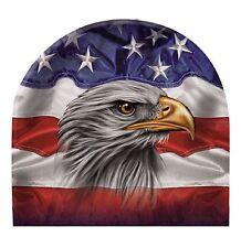 Patriotic Eagle Beanie Hat Skull Cap Head Wear Sublimation Colors Capsmith