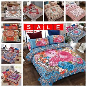 Luxury Bedding 4pcs Set Quilt Cover Duvet Covers Pillow Case Bed Sheet Uk Post Home & Garden