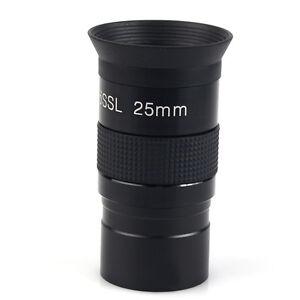 Black 1.25inch Plossl 25mm Eyepiece For Astronomy Telescope Metal New