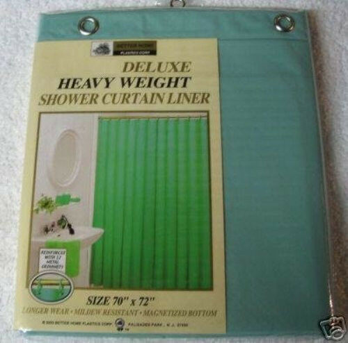 VINYL SHOWER LINER WITH MAGNETS AND GROMMETS SAGE GREEN