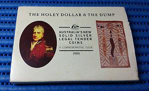 1988-Australia-The-Holey-Dollar-amp-The-Dump-1-oz-amp-0-25-oz-999-Fine-Silver-Coin