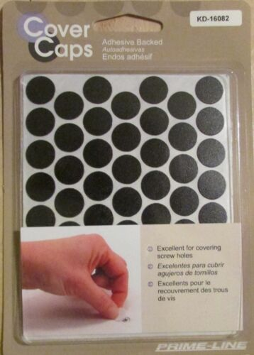 """Prime-Line Screw Hole Covers 9//16/"""" 14mm OD 4 Colors Available 52 Qty"""