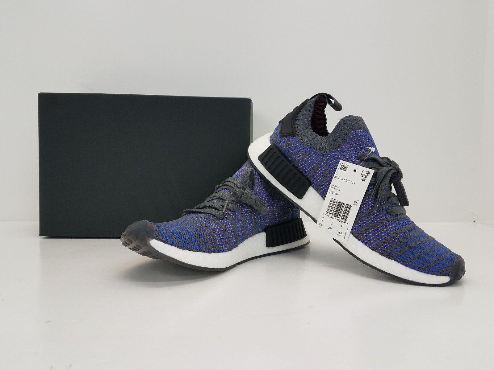 Adidas nmd_r1 stlt PK Nomad / primeknit Azul / BLK / Nomad coral cq2388 - brand Nuevo in box! 87f015