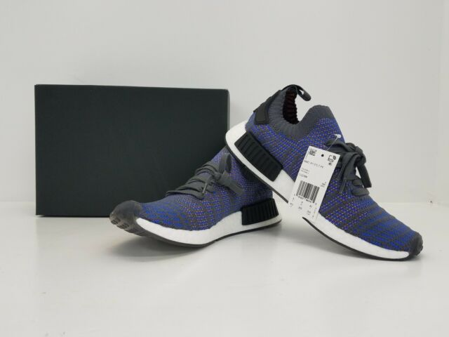 dc9d153de2ed4 Adidas NMD R1 STLT PK Nomad Primeknit Blue Blk Coral CQ2388 - BRAND NEW IN