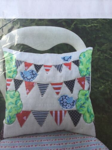 Appliqué Craft  Sewing Cushion Kit Birds And Bunting