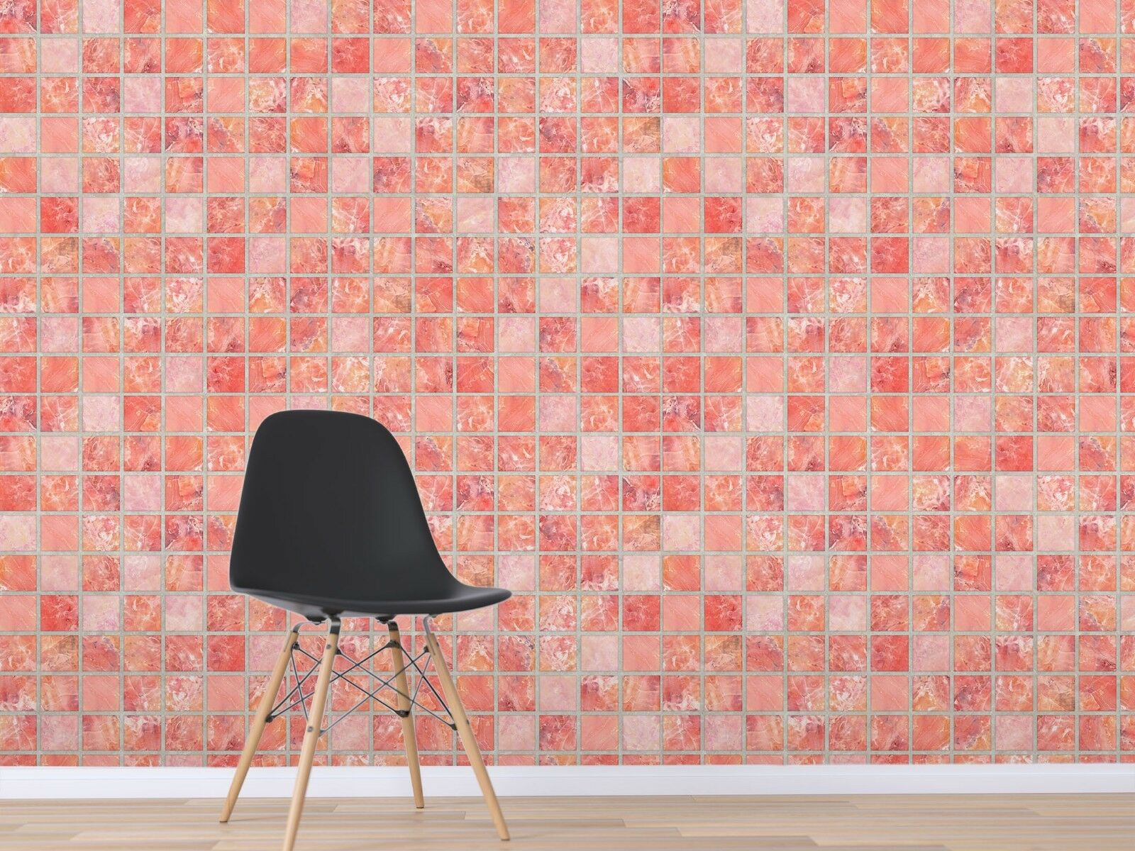 3D Hellpink Quadrat 3 Textur Fliesen Marmor Tapeten Abziehbild Tapete Wandbild