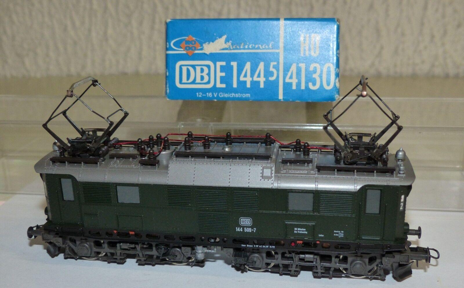 Roco 4130 e-Lok br 144 509-7 DB OVP h0 1 87 buen estado gasóleo