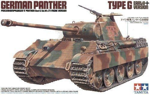Panzer Panther Ausf. G Early Version - 1 35 Military Model Kit - Tamiya 35170