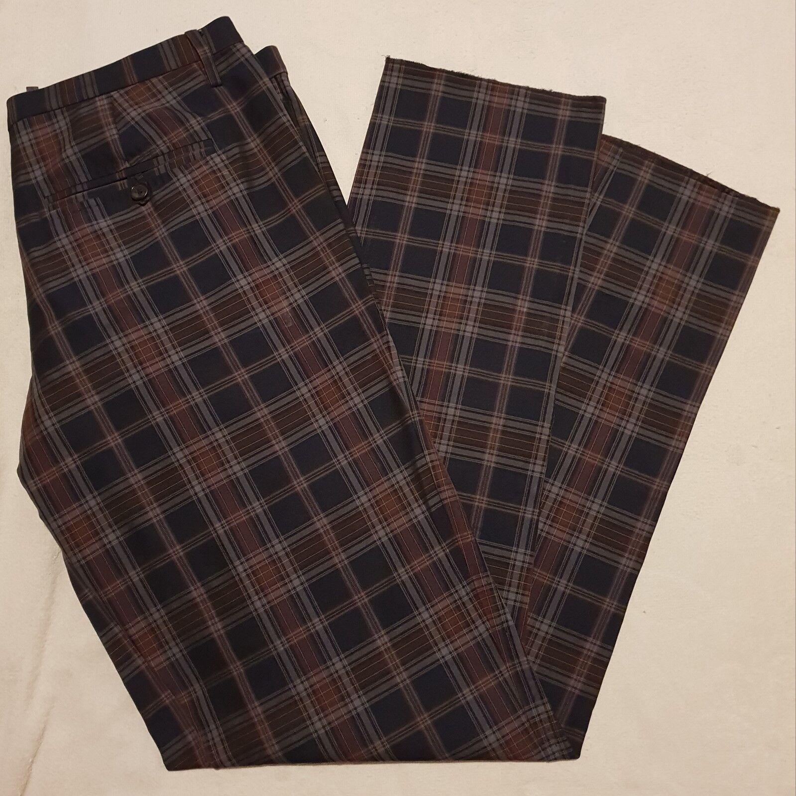 DSQUARED2 PANTALONES A CUADROS size 48 TROUSERS PANTS