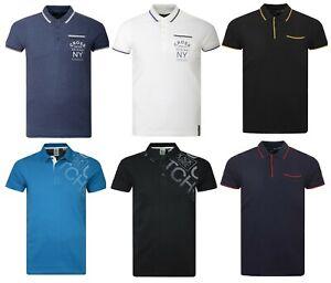 Mens-Polo-Shirt-Crosshatch-Collared-Cotton-T-Shirt-Short-Sleeved-Casual-BIGSIZES