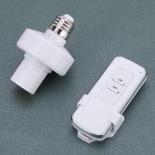 E27 Screw Wireless Remote Control Light Lamp Bulb Holder Cap Socket Switch 10M