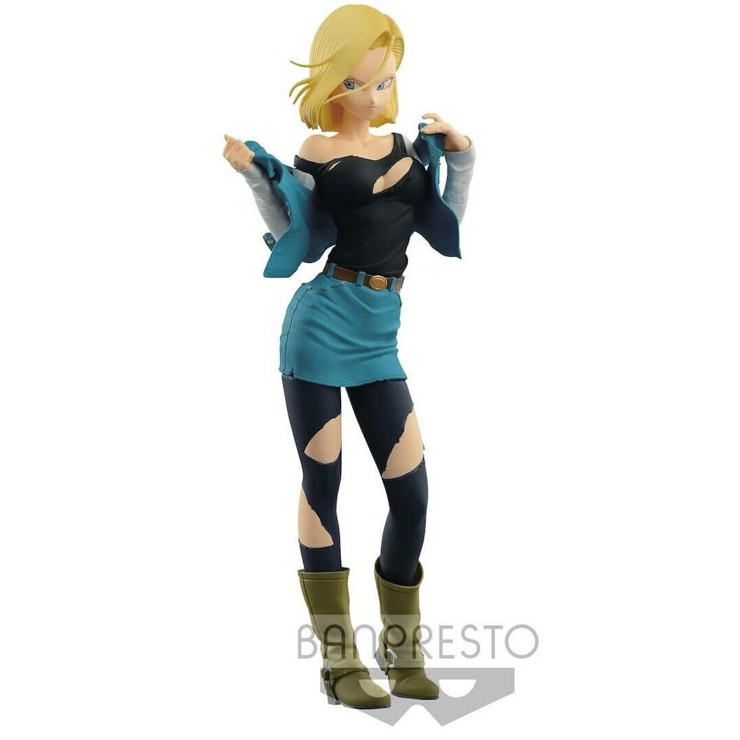 Dragon Ball Z Glitter and Glamours Vinyl Figure - Android 18 (Special Colour ...