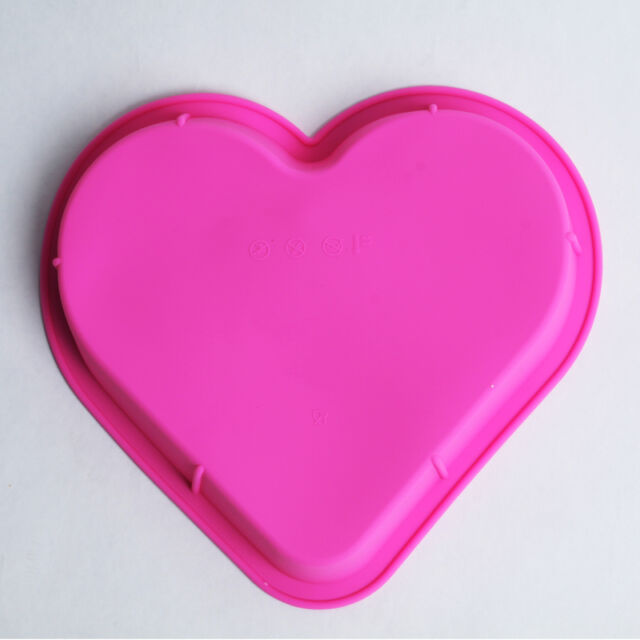 Heart Shape Silicone Cake Baking Mold DIY Candy Chocolate Muffin jelly Mould