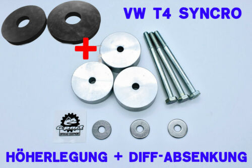 VW T4 SYNCRO 30mm Höherlegungs-Kit m.Differential Absenkung f.a Diff spacer