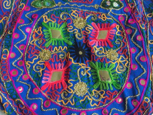 forro Jaipur embellecido con azul bolsa Nuevo arco Rawsilk iris bordado bordado gran 8OzxFO