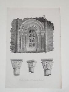 Abbaye-St-Georges-BOCHERVILLE-Fragonard-ENGELMANN-LITOGRAFIA-Infolio-1823