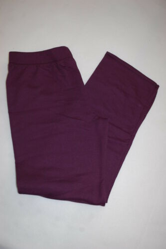 Womens Sweatpants DEEP PLUM PURPLE SWEAT PANTS Straight Leg PETITE S 4-6