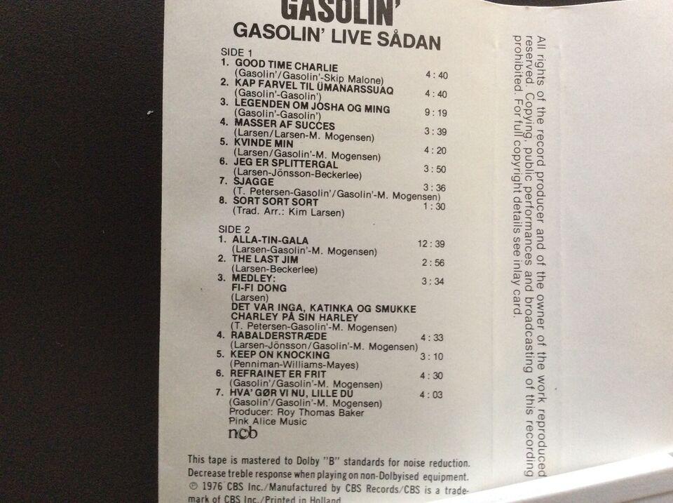 Bånd, GASOLIN, GASOLIN' LIVE SÅDAN