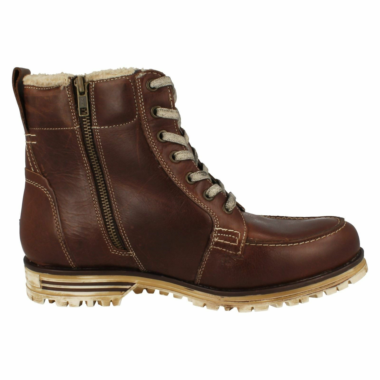 Bugatti 'Fox' Men's Dark Brown Leathr, Fur Lined. Winter Boots