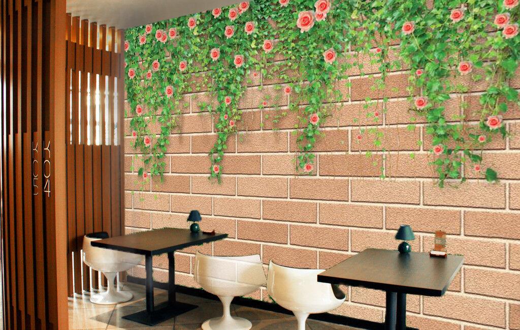 3D greene Blätter Wand 378 Fototapeten Wandbild Fototapete BildTapete Familie