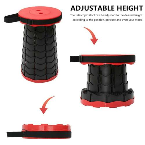 Portable Telescopic Folding Stool Collapsible For Hiking Camping Fishing Chair