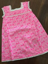 NEW MINI BODEN 4 5 Yr Adorable PINK FLOATY FLORAL DRESS w LACE TRIM
