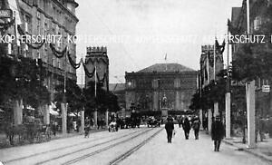 Hannover : Hauptbahnhof - Bahnhofstraße - um 1925              Z 14-1