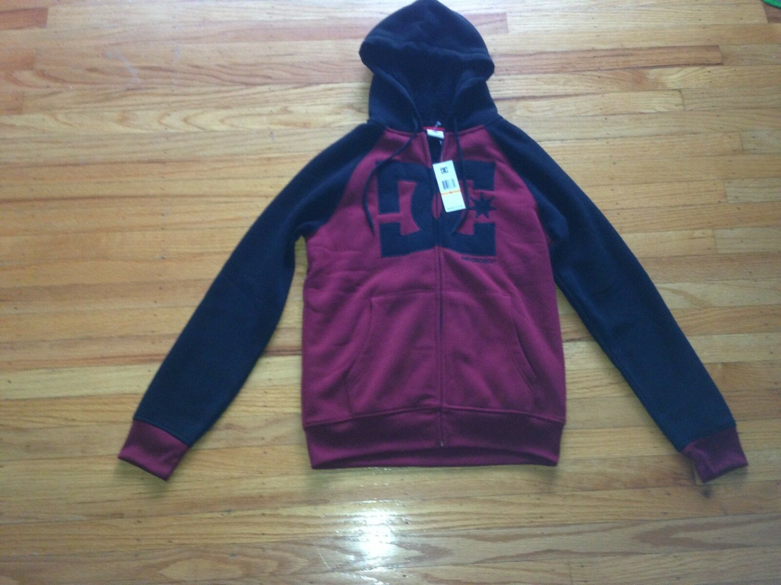 DC SHOES CO CO CO ZIP UP HOODIE 50B4789-63 CABERNET SZ S 8594e3