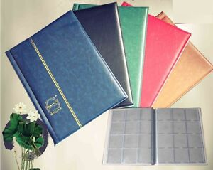 10-Pages-Coin-Stock-Book-120-Pocket-Album-for-2x2-Paper-Flip-Holders-Storage