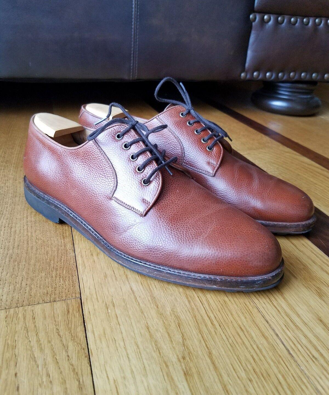 Salvatore Ferragamo Studio braun Leather Leather Leather Lace Up Oxford schuhe Wide Größe 9 2E 165bcc