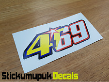 469 Nicky Hayden Sticker Superbike MotoGP Mugello Tribute Helmet 130mm