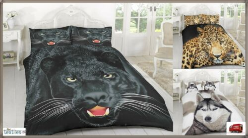 Duvet Cover Sets 3D Animal Print Bedding Pillow Cases Single Double King Size